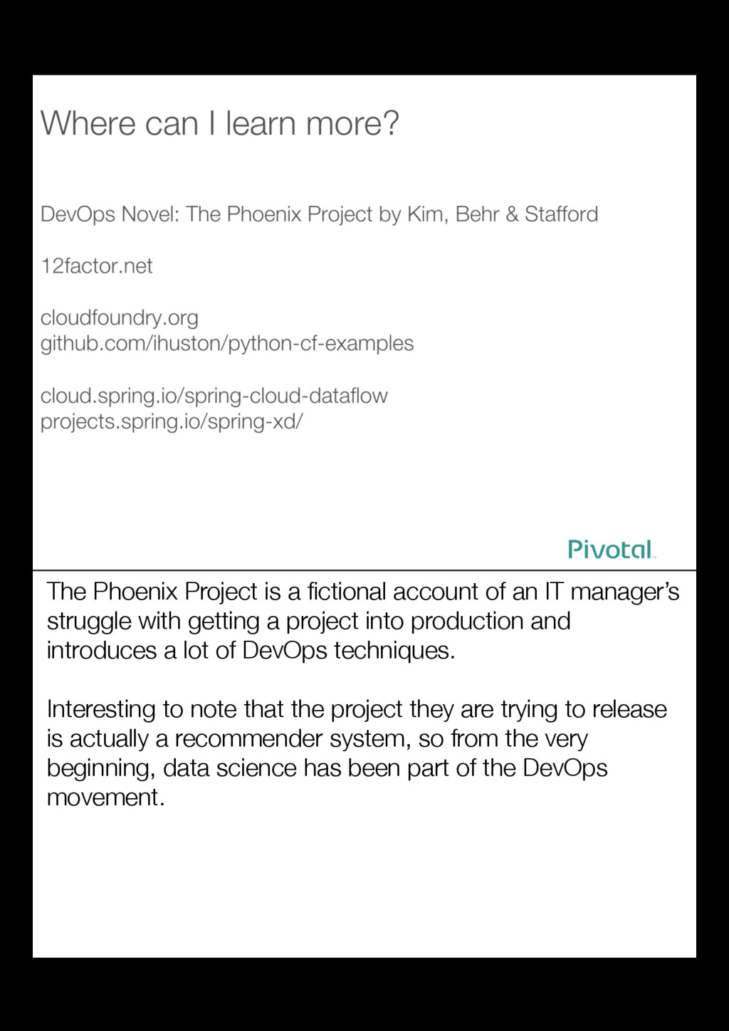 The Phoenix Project is a fictional account of an...