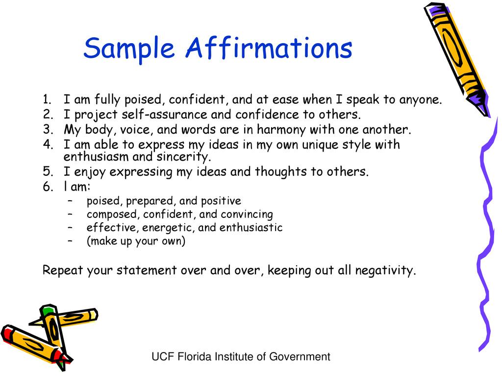 UCF Florida Institute of Government Sample Affi...