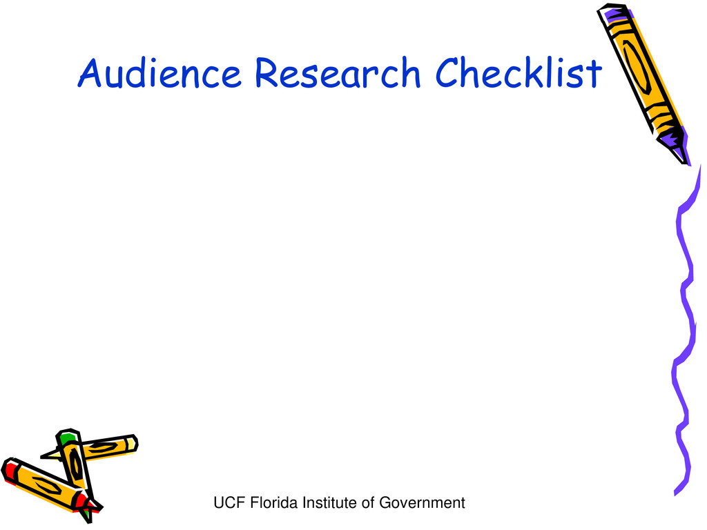UCF Florida Institute of Government Audience Re...