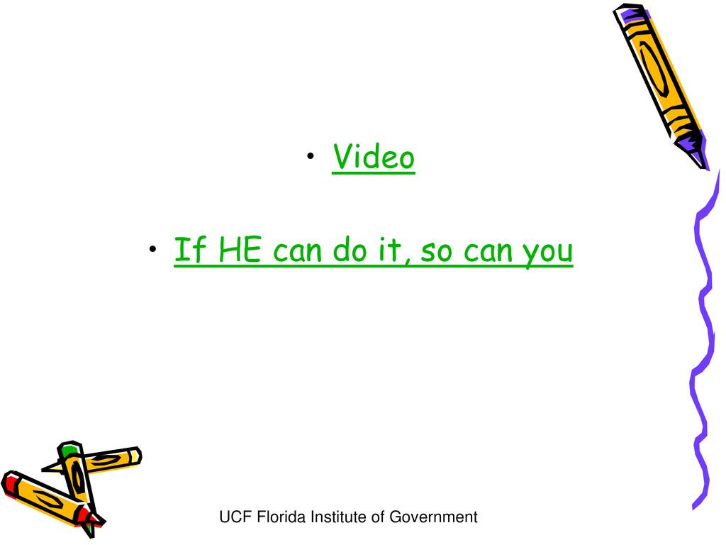 UCF Florida Institute of Government • Video • I...