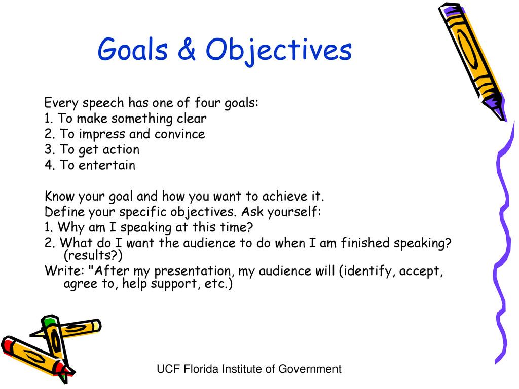 UCF Florida Institute of Government Goals & Obj...