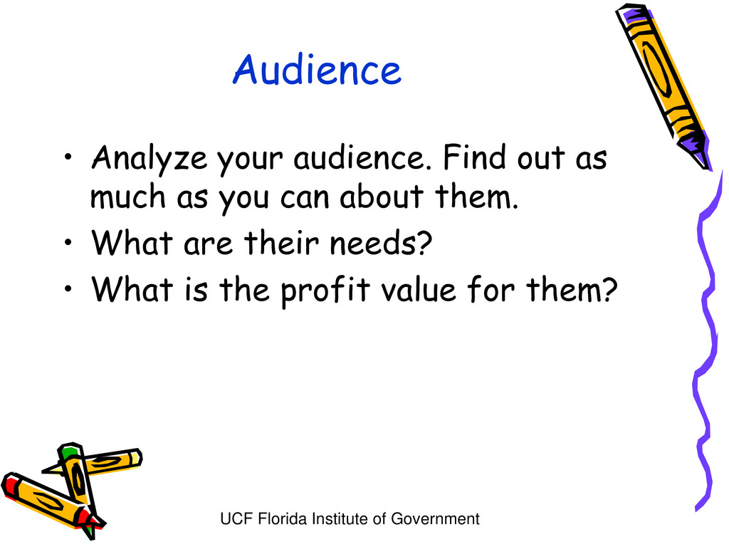 UCF Florida Institute of Government Audience • ...