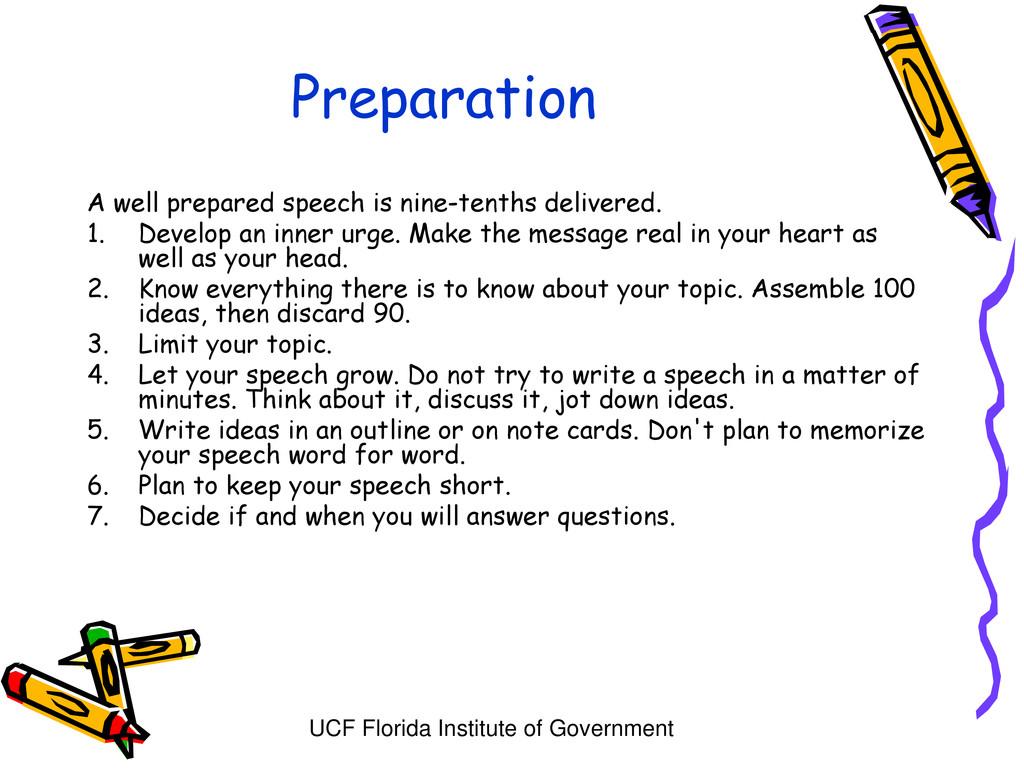UCF Florida Institute of Government Preparation...