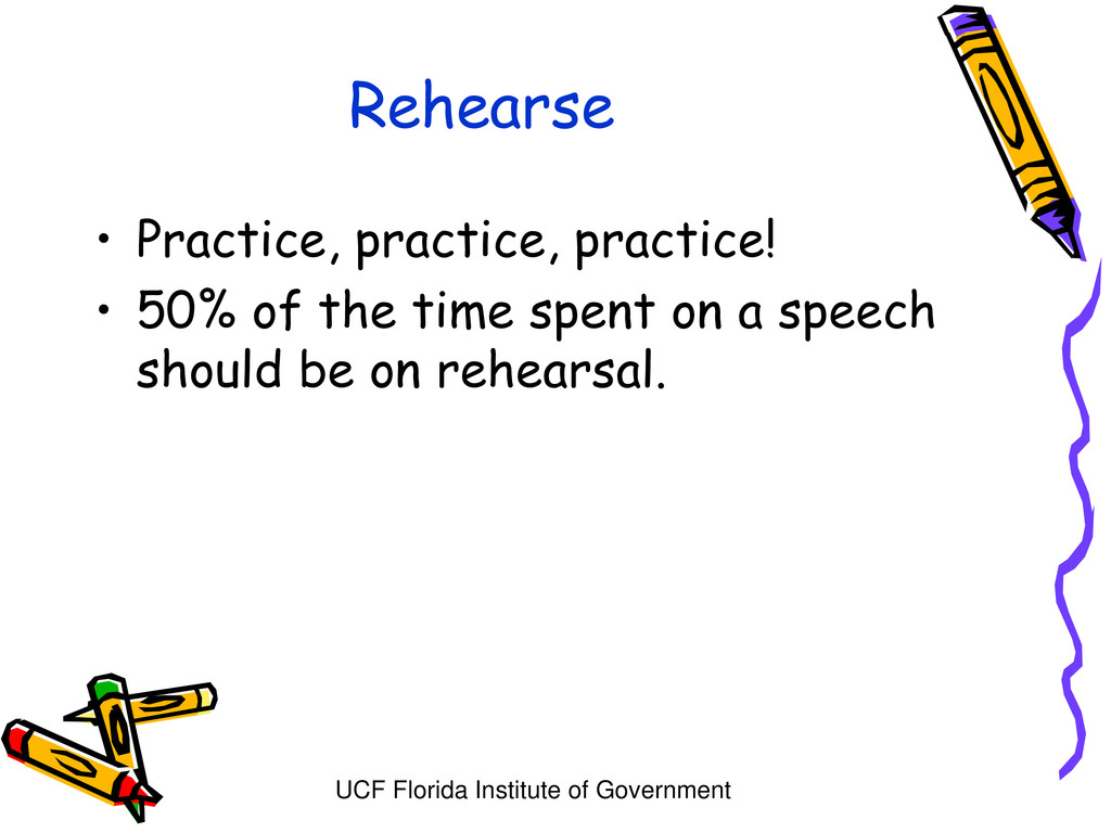 UCF Florida Institute of Government Rehearse • ...