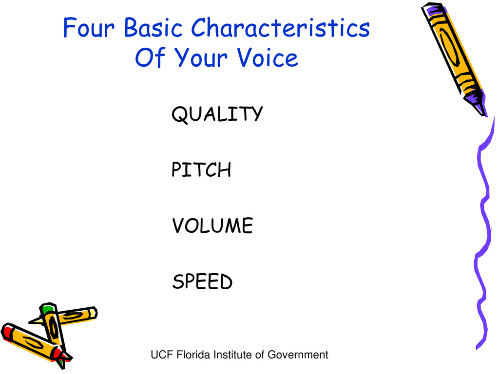 UCF Florida Institute of Government Four Basic ...