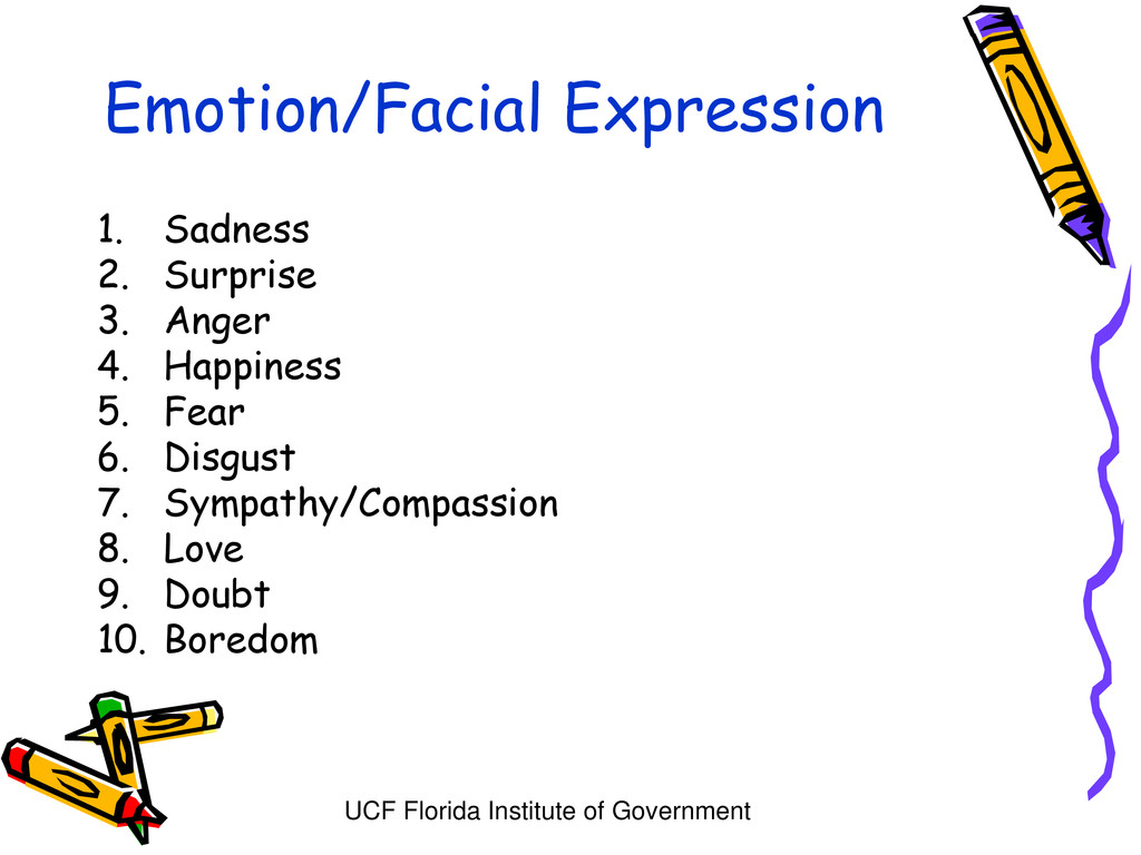 UCF Florida Institute of Government Emotion/Fac...