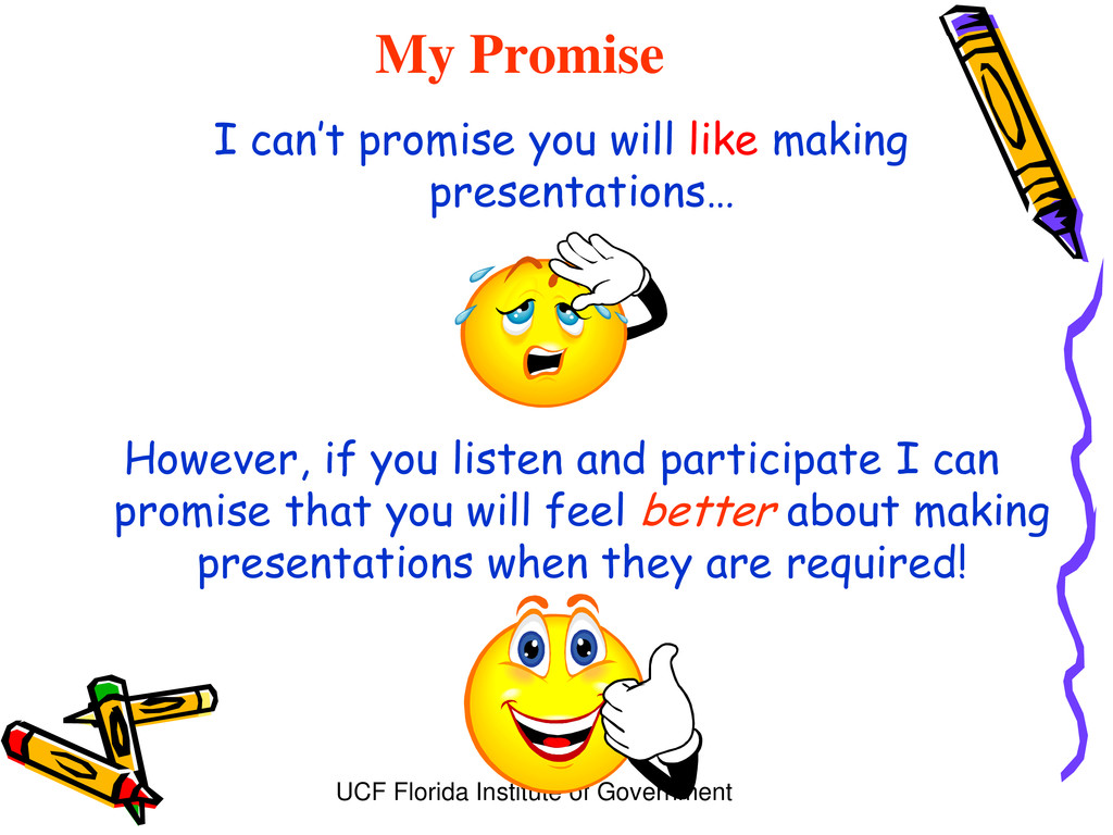 UCF Florida Institute of Government My Promise ...
