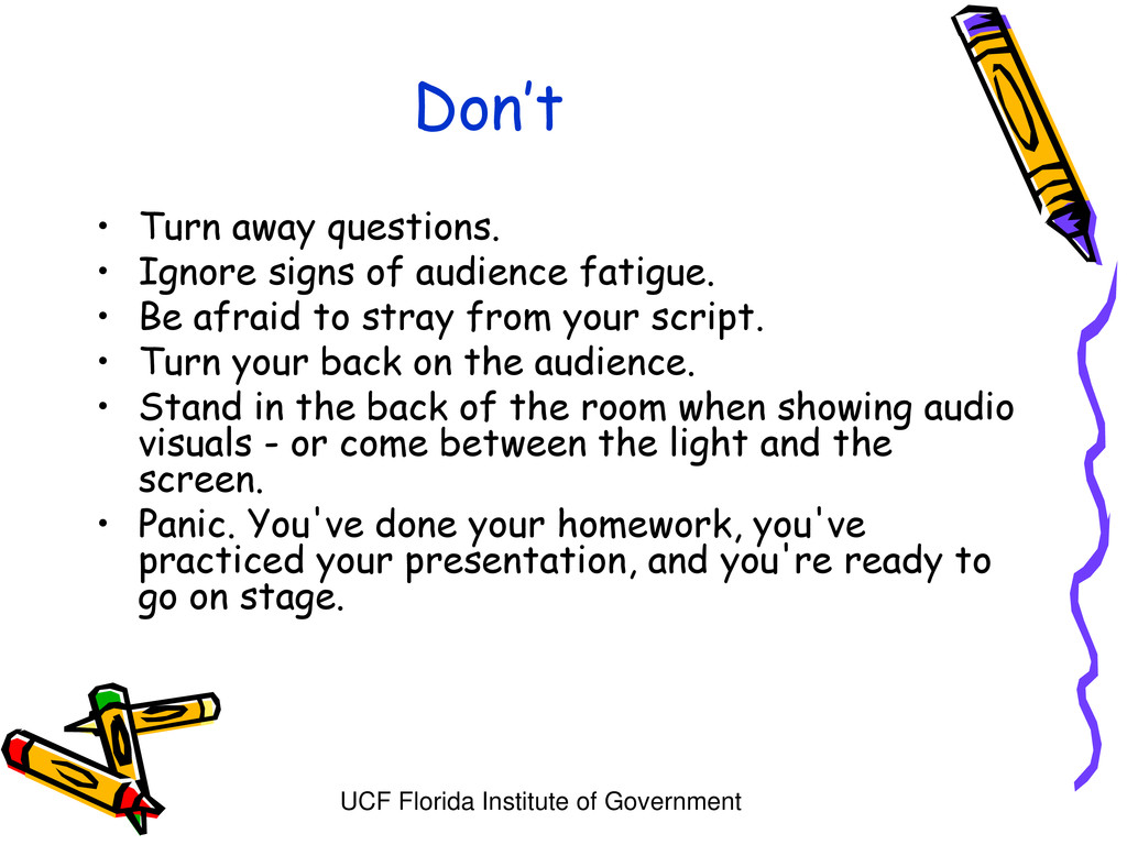 UCF Florida Institute of Government Don't • Tur...