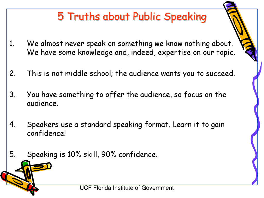 UCF Florida Institute of Government 5 Truths ab...