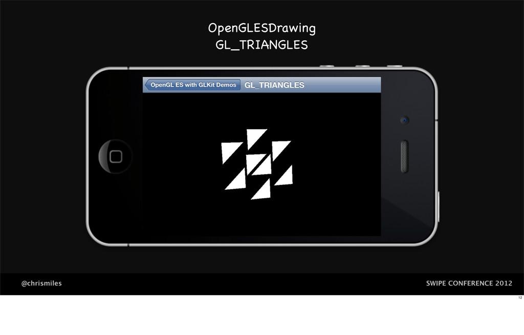 SWIPE CONFERENCE 2012 @chrismiles OpenGLESDrawi...