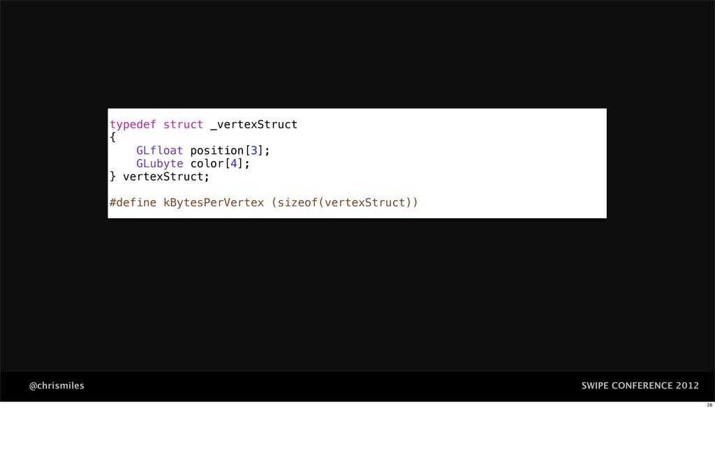 SWIPE CONFERENCE 2012 @chrismiles typedef struc...