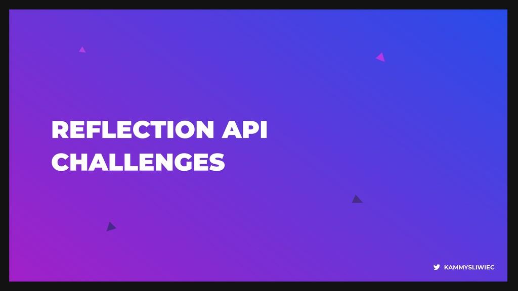 KAMMYSLIWIEC REFLECTION API CHALLENGES
