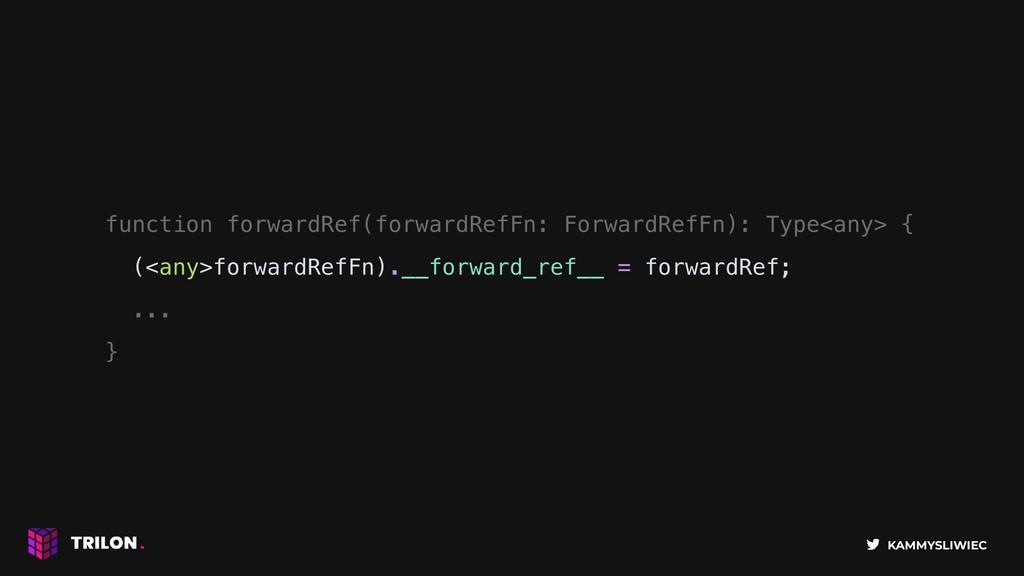 KAMMYSLIWIEC function forwardRef(forwardRefFn: ...