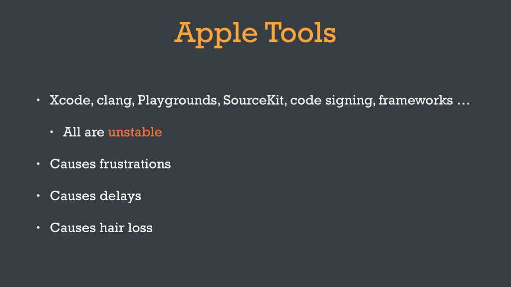 Apple Tools • Xcode, clang, Playgrounds, Source...