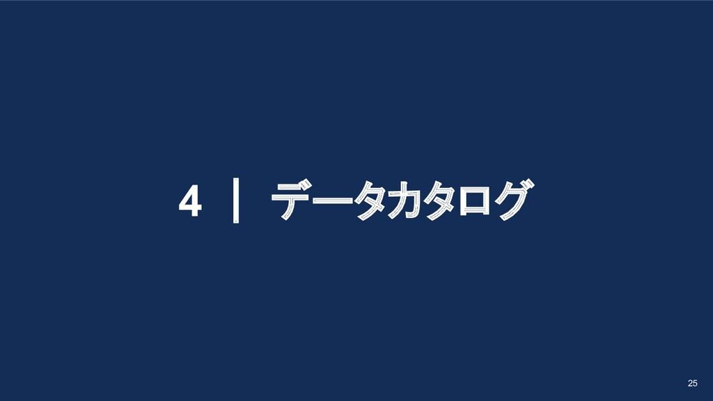 4 | データカタログ 25