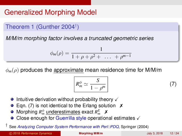 Generalized Morphing Model Theorem 1 (Gunther 2...