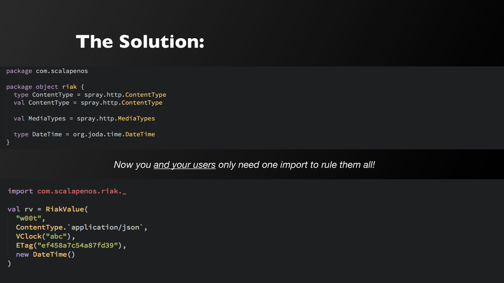 The Solution: Now you and your users only need ...