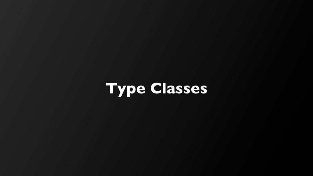Type Classes
