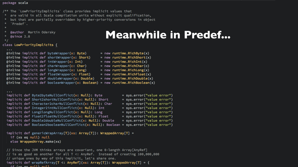 Meanwhile in Predef...