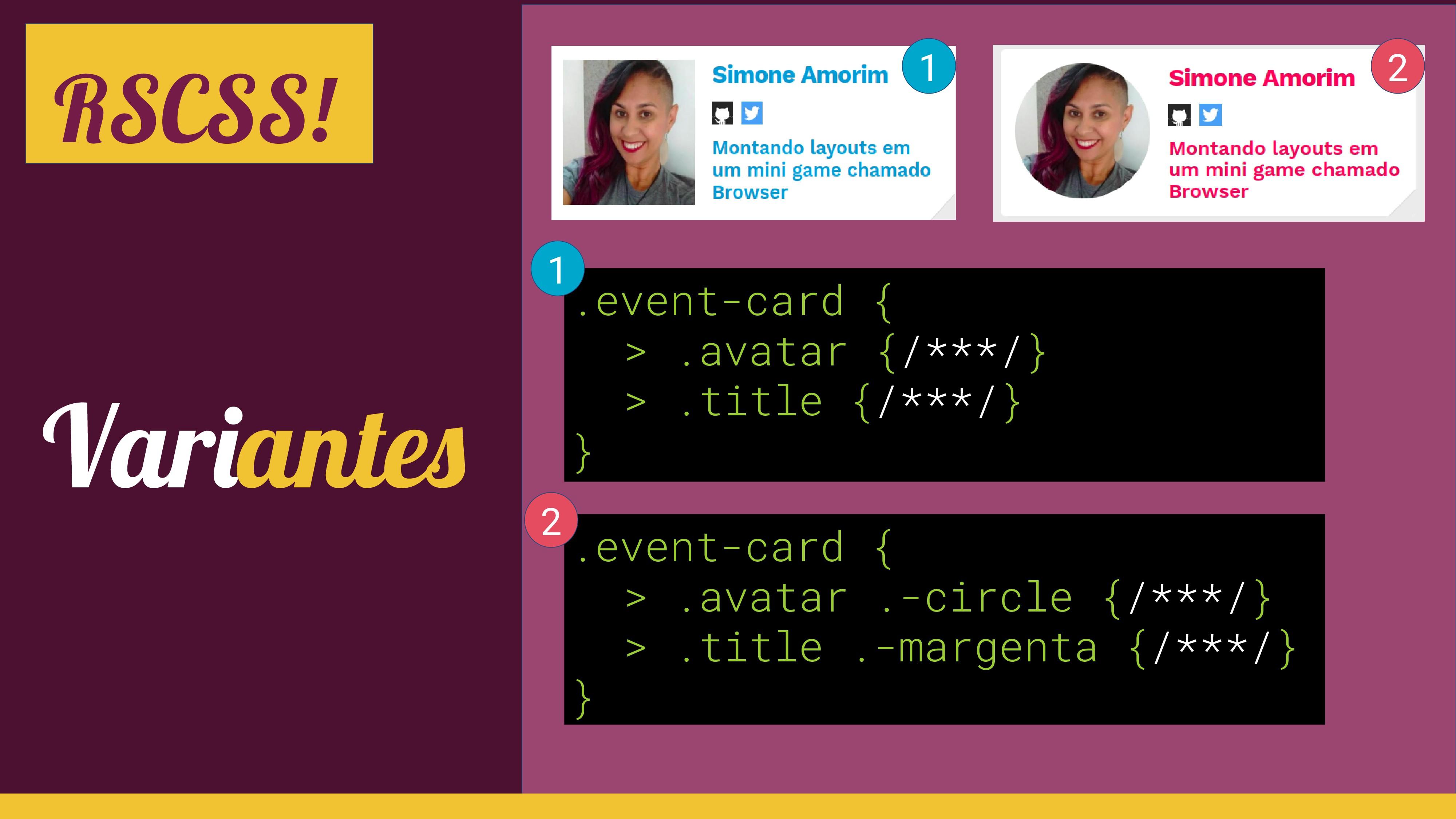 Variantes RSCSS! .event-card { > .avatar .-circ...