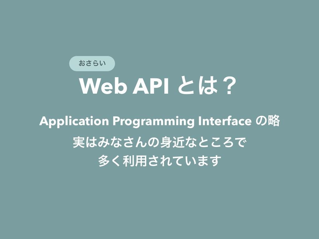 Web API ͱʁ Application Programming Interface ͷ...
