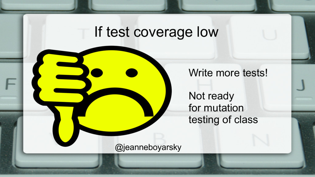 If test coverage low @jeanneboyarsky Write more...