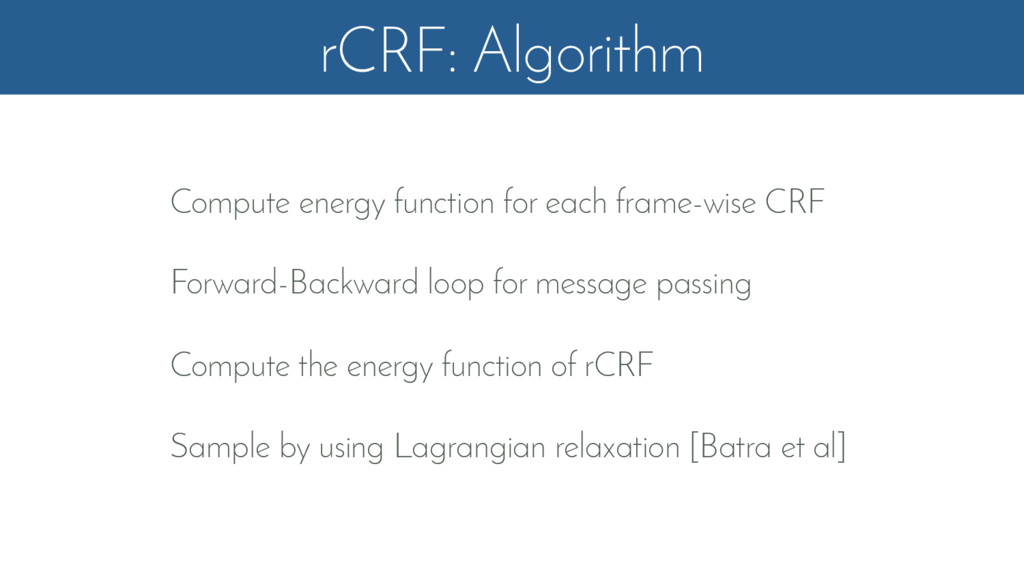 rCRF: Algorithm Compute energy function for eac...