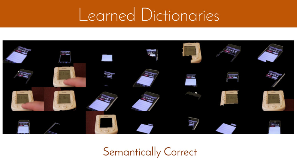 Learned Dictionaries Semantically Correct