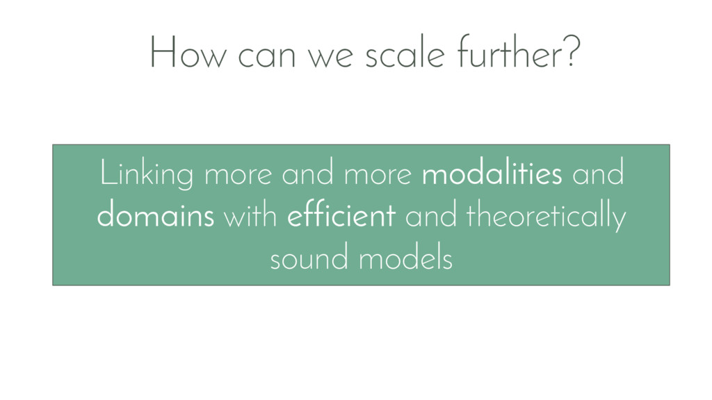 How can we scale further? Linking more and more...