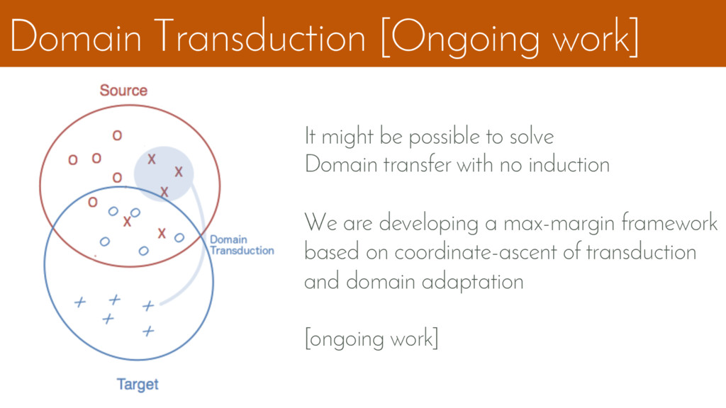 Domain Transduction [Ongoing work] It might be ...