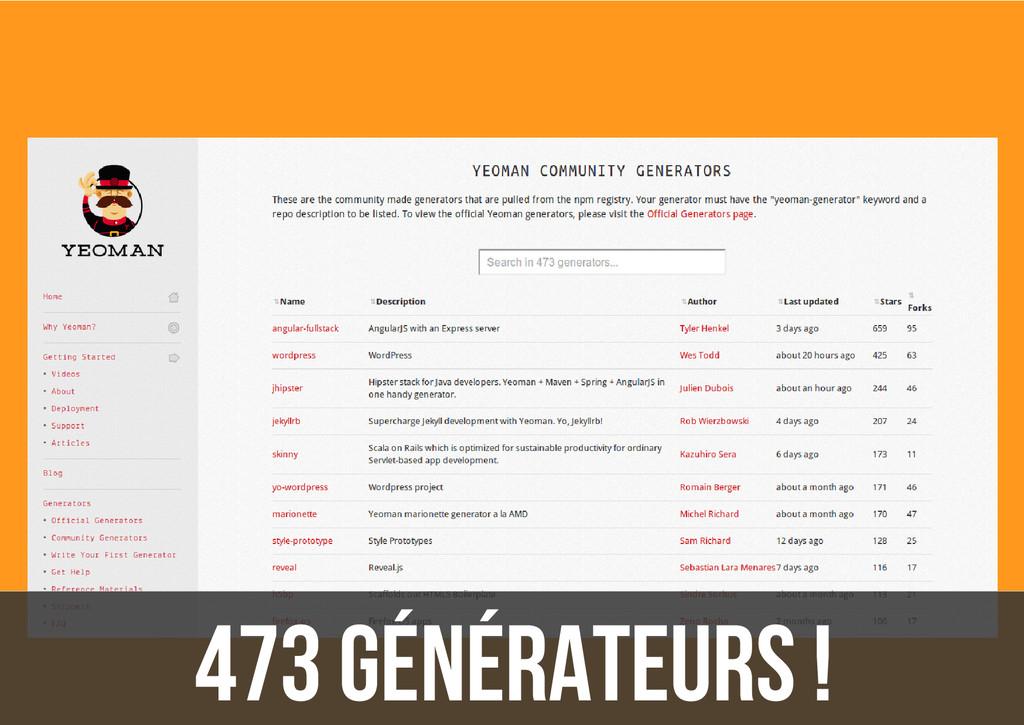 473 générateurs !