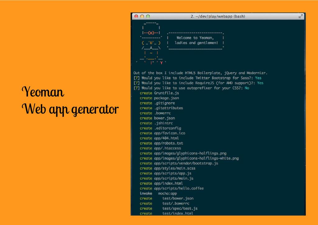 Yeoman Web app generator