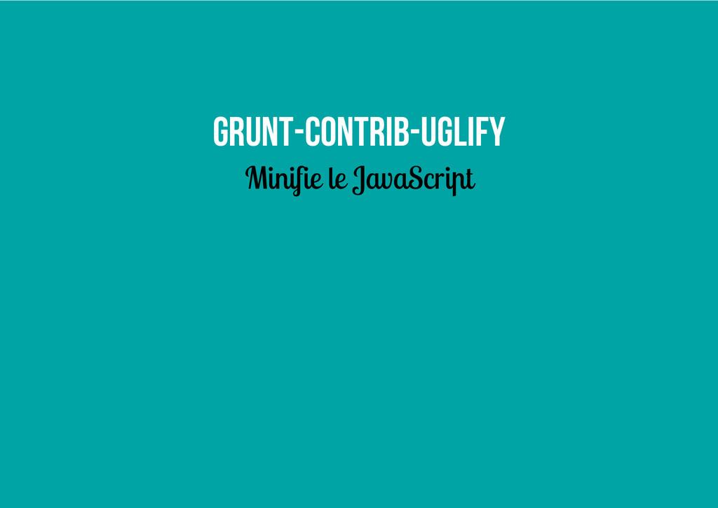 grunt-contrib-uglify Minifie le JavaScript