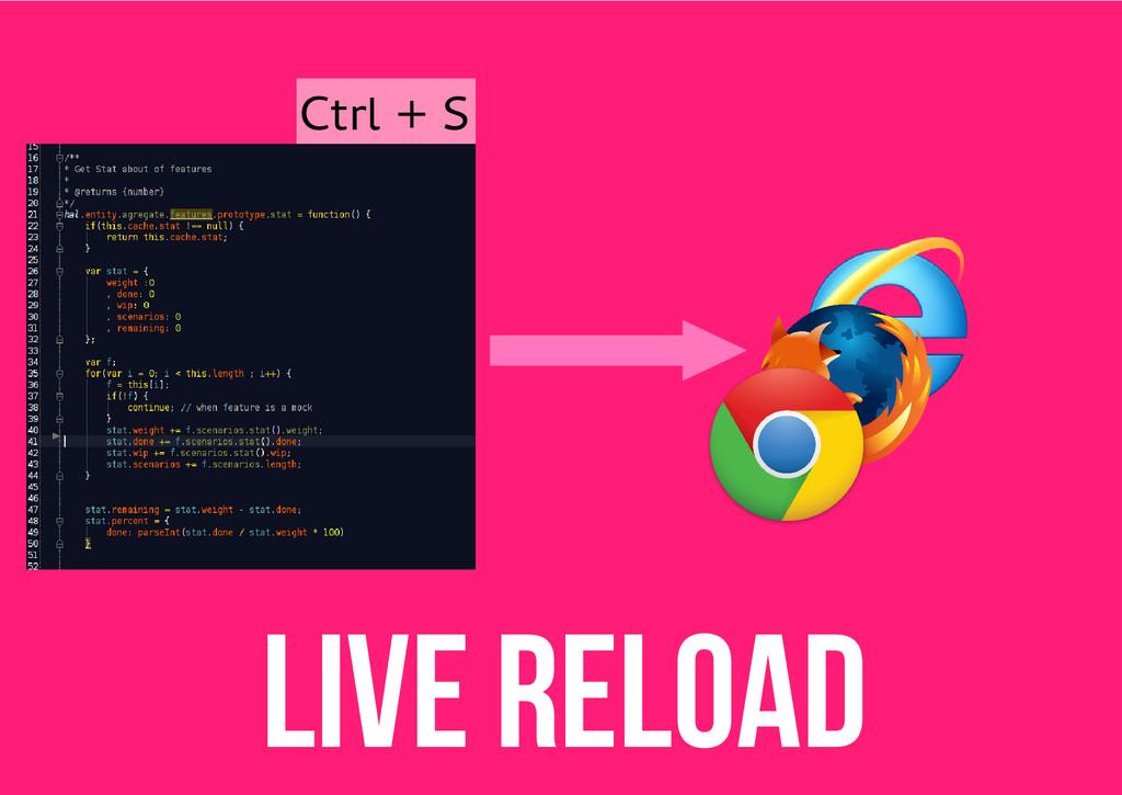 Live reload Ctrl + S