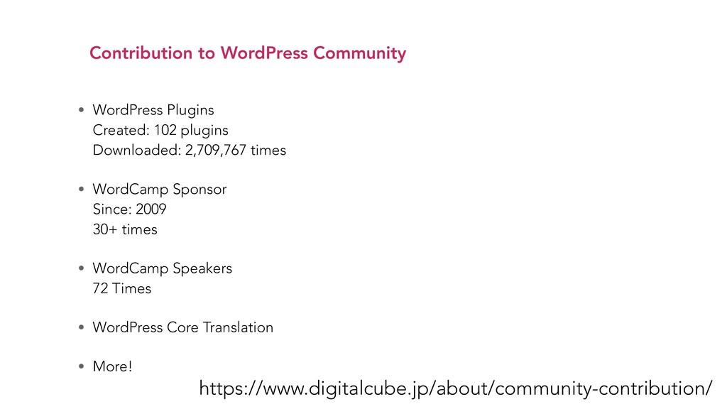 Contribution to WordPress Community https://www...