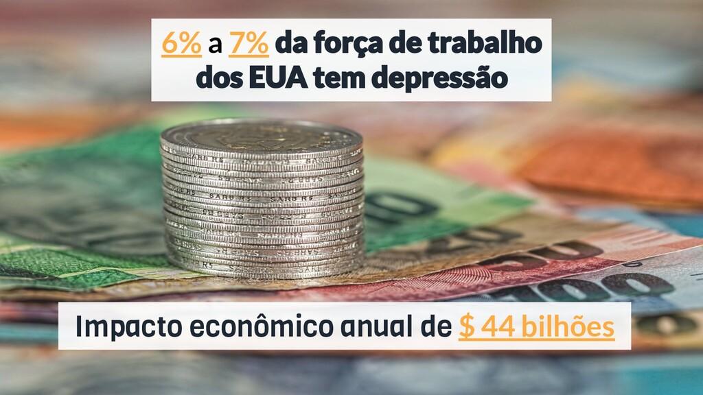 Impacto econômico anual de $ 44 bilhões 6% a 7%