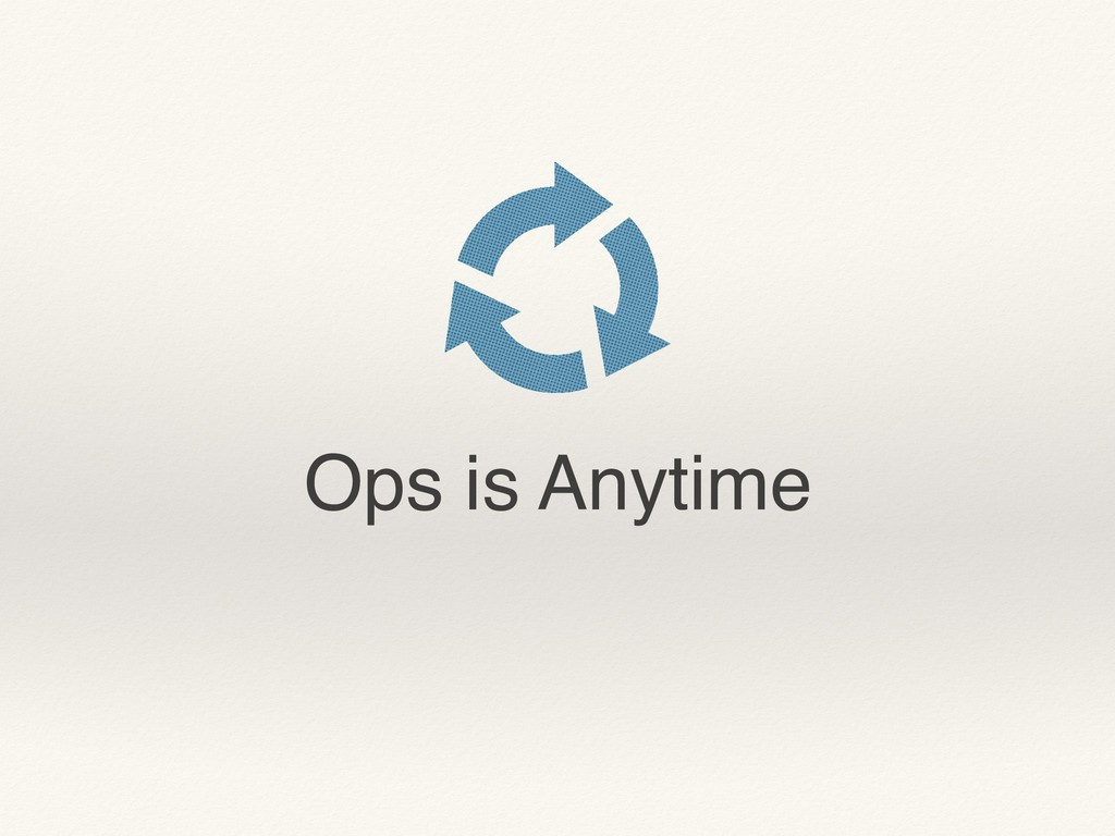 Ops is Anytime