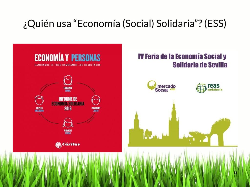 """11 ¿Quién usa """"Economía (Social) Solidaria""""? (E..."""