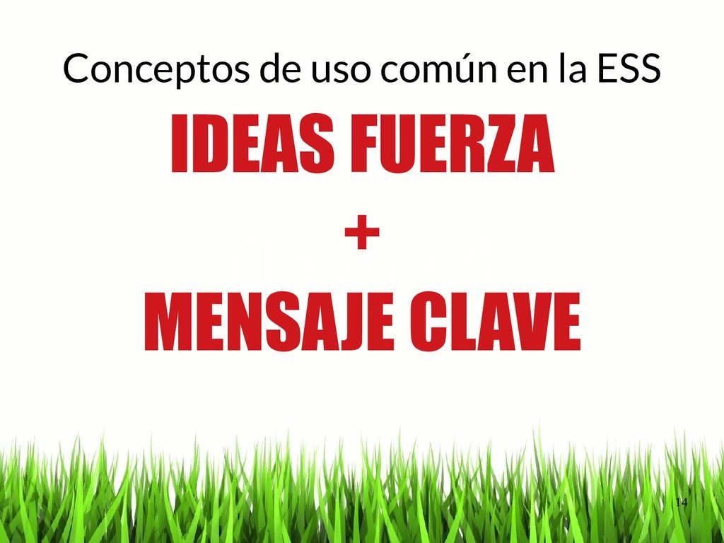 14 Conceptos de uso común en la ESS IDEAS FUERZ...