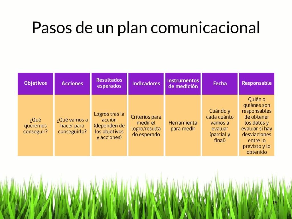 19 Pasos de un plan comunicacional