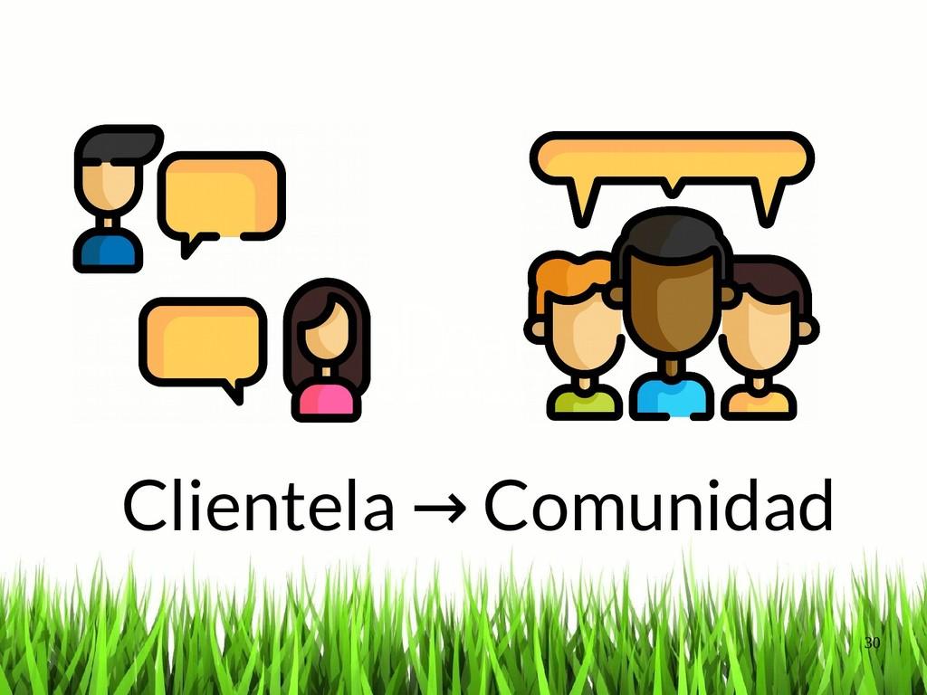 30 Clientela Comunidad → Princi