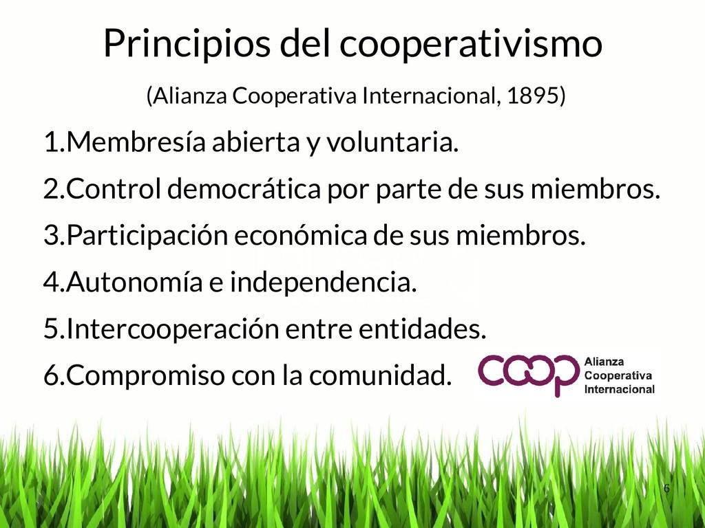 6 Principios del cooperativismo (Alianza Cooper...