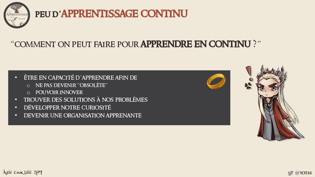 """Agile Tour Lille 2019 @yot88 """"comment on peut f..."""