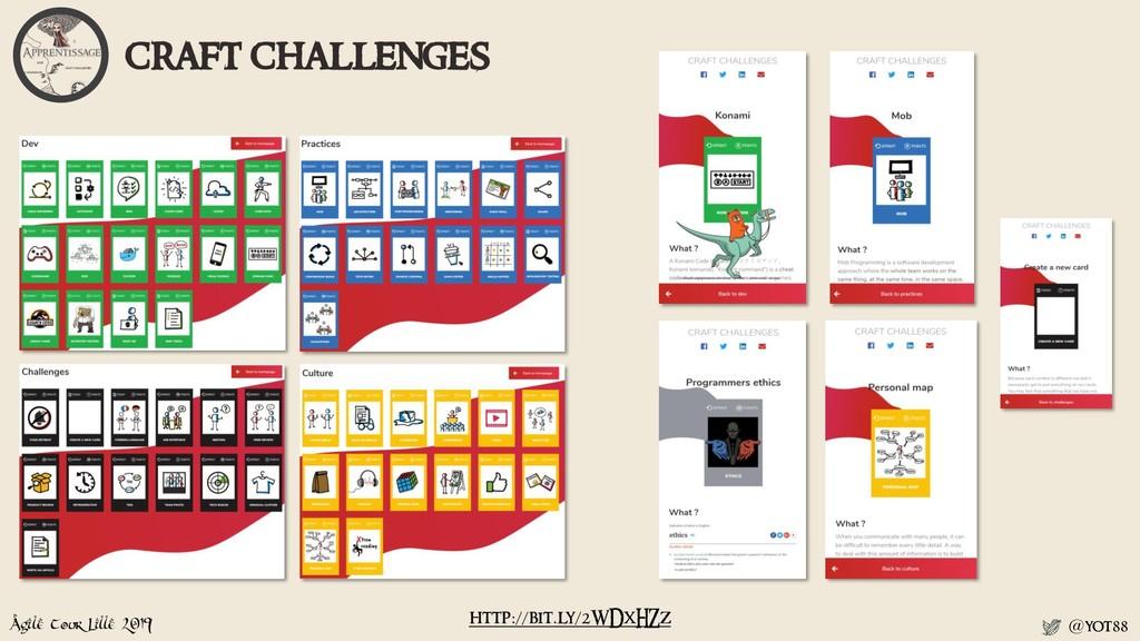 Agile Tour Lille 2019 @yot88 craft challenges h...