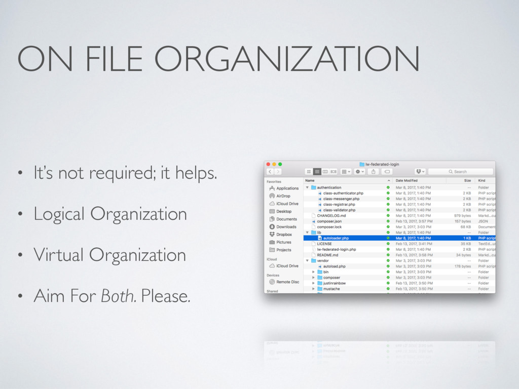 ON FILE ORGANIZATION • It's not required; it he...