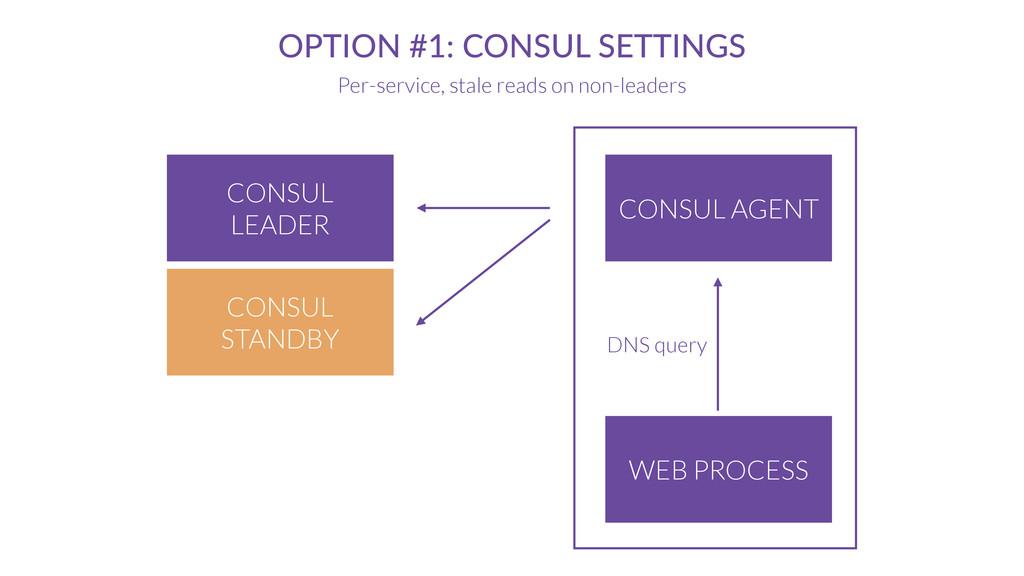 CONSUL AGENT OPTION #1: CONSUL SETTINGS Per-ser...