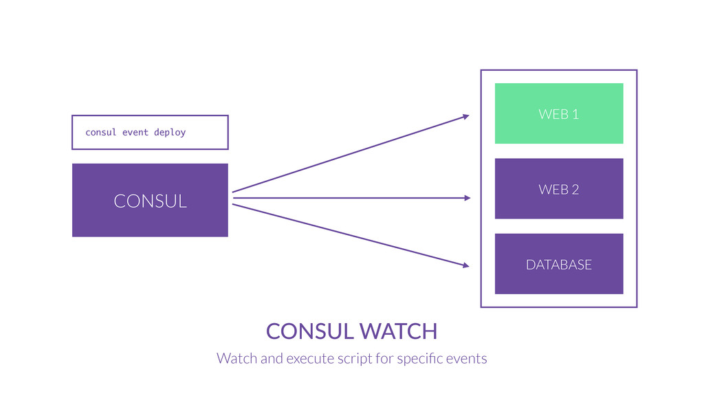 CONSUL CONSUL WATCH Watch and execute script fo...