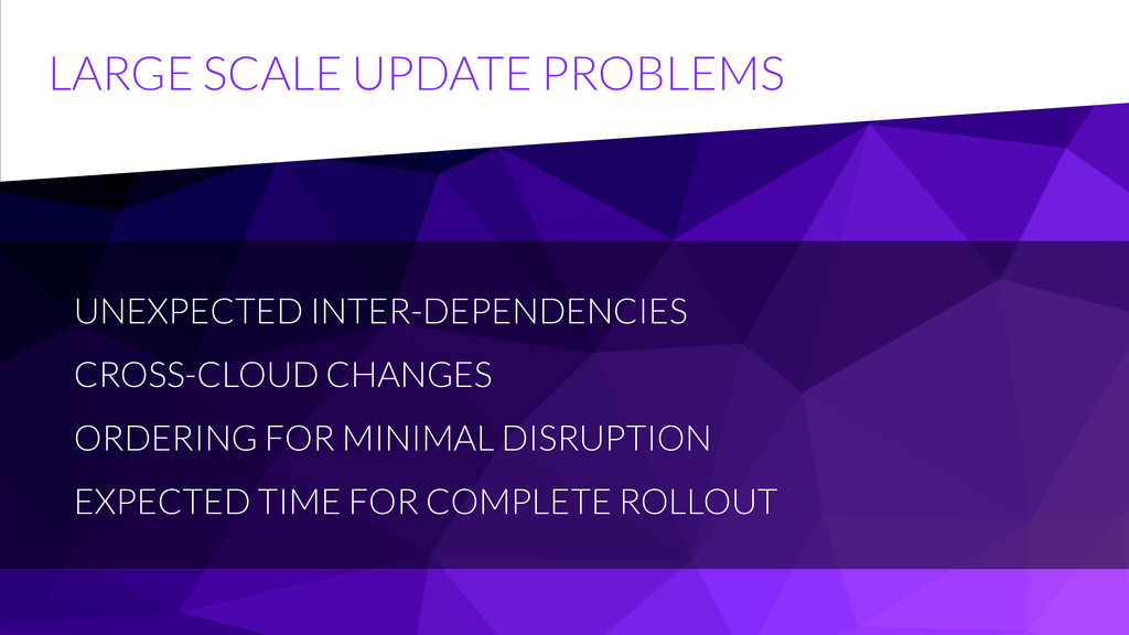 LARGE SCALE UPDATE PROBLEMS UNEXPECTED INTER-DE...
