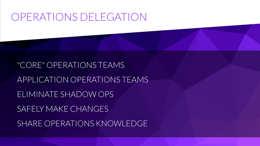 "OPERATIONS DELEGATION ""CORE"" OPERATIONS TEAMS A..."