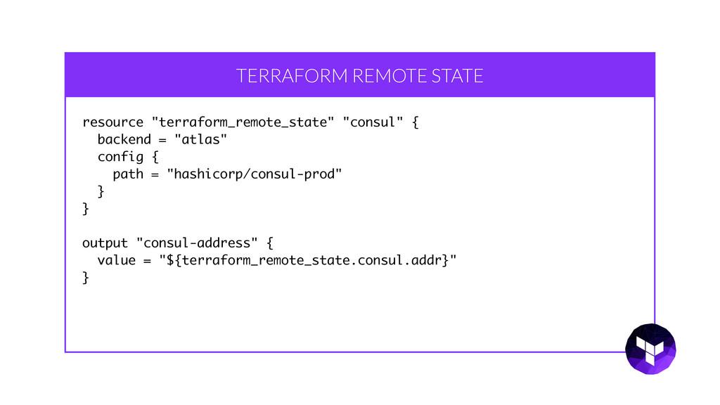 """TERRAFORM REMOTE STATE resource """"terraform_remo..."""